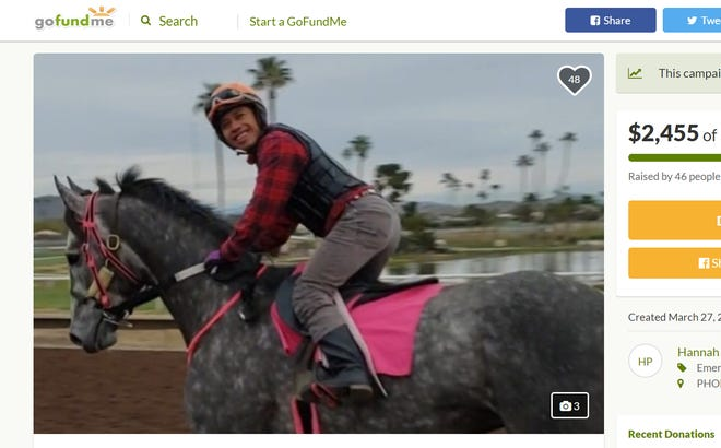 A GoFundMe was set up to help pay for Turf Paradise jockey Leonel Camacho Flores' medical expenses after he was crushed by his falling horse.