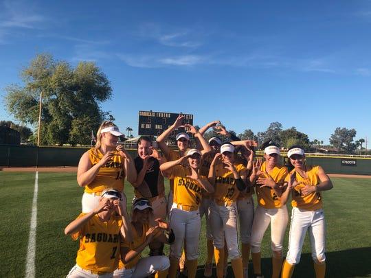 Saguaro softball team beats Poston Butte