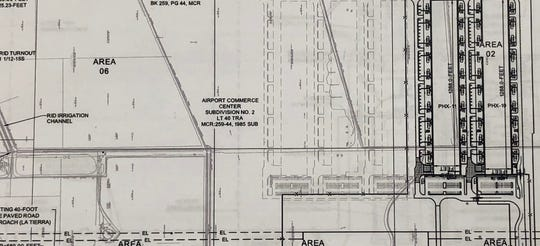 The site plan for Microsoft's data center in Goodyear shows two buildings, dubbed PHX-10 and PHX-11.