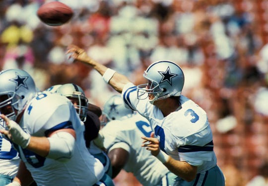 Steve Walsh made five starts for the Cowboys and appeared in nine games over his two seasons with Dallas.