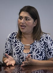 Betty Guardado answers questions, April 18, 2019, in the azcentral.com Editorial Board room, Phoenix.