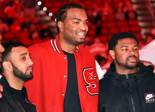 Former North Carolina State Wolfpack forward T.J. Warren supported the Carolina Hurricanes on Thursday.