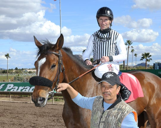 Turf Paradise jockey Scott Stevens is the winner of the 2019 George Woolf Memorial Award.