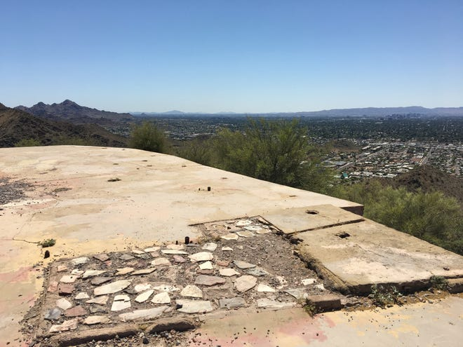 Part of the ruins of the former Cloud Nine restaurant on top of Shaw Butte in Phoenix.
