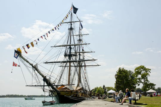 The U.S. Niagara is moored in the St. Clair River at Algonac several years ago. The Algonac-Clay Township Historical Society Maritime Museum sponsored its visit.