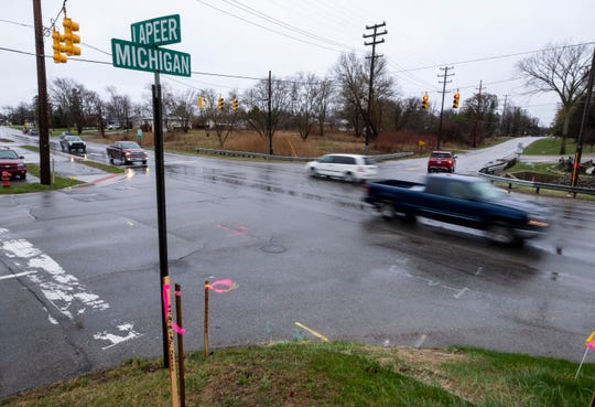 Construction on the intersection of Michigan and Lapeer roads is expected to start Monday.