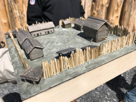 A model of future construction at Fort Loudoun.