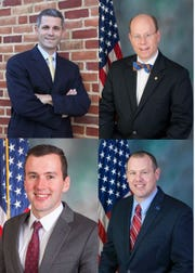 Clockwise from top left: Rep. Rob Kauffman, Rep. Paul Schemel, Rep. Jesse Topper, Rep. John Hershey.