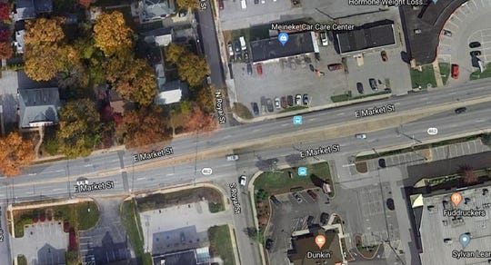Springettsbury Twp. Police said people escaped injury when a man got out of his car and started firing at gun on East Market Street near Royal Street on April 19, 2019. Police said the area was busy with Good Friday shoppers.