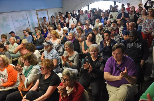 Images from presidential candidate Cory Booker's visit to the Washoe County Democrats headquarters in Reno on April 19, 2019.