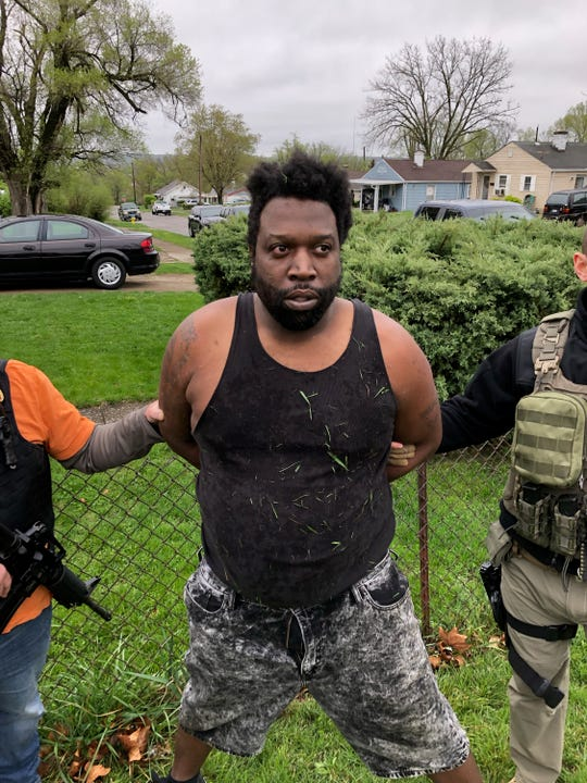 Larry Blackstock was apprehended Friday morning in Dayton, Ohio. He was wanted on Wayne County warrants for conspiracy to commit murder and failure to appear.