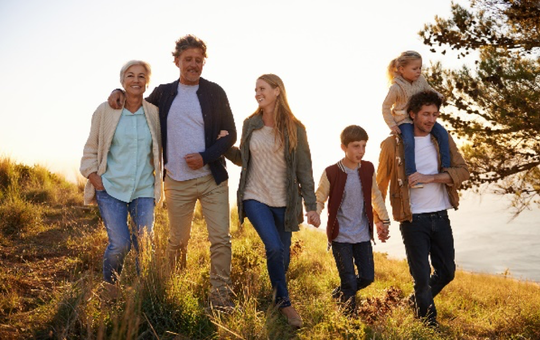 The sandwich generation refers to people who have at least one parent older than age 65 and also provide financial support or babysitting for an adult child's family.