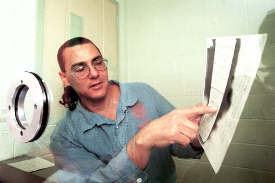 Frank Gable, convicted in 1991 for the murder of Oregon prison boss Michael Francke, goes over evidence in 2000 that he claims proves he deserves a new trial. After decades of appeals, a federal judge ruled April 18, 2019 that he should be retried or released within 90 days.
