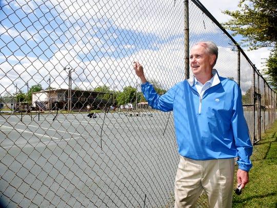 James West at Querbes Tennis Court.