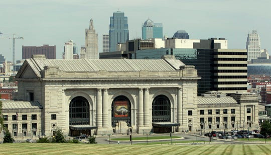 Union Station stands in front of the Kansas City skyline in a 2010 Associated Press photo.