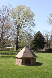 A spring box currently under construction at Gypsy Hill Park in Staunton.