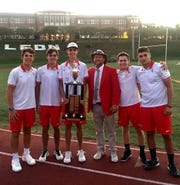 Leon's boys tennis team of Will Bullen, Blake Javanmardi, Parker Kenny, Jack Long, Petar Leontikj and head coach Kevin Record captured the 2019 City Championship with a 5-2 tiebreaker win over Chiles.