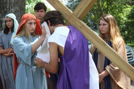 All of the Lenten observances at Trinity Catholic School culminate in the Passion Play, which is presented by the eighth-grade students on April 17.