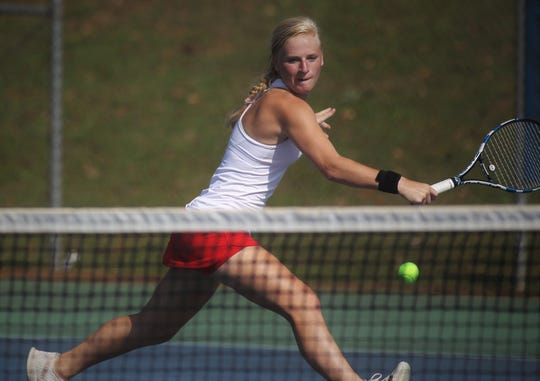 Leon senior Jules Grady captured a District 2-3A title at No. 1 singles on Thursday at Tom Brown Park.