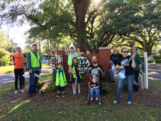 Levy Park team beautifies the neighborhood.