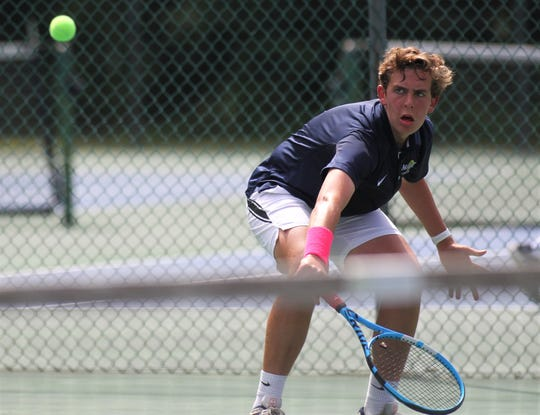 Maclay's Nick Cicchetti plays in the District 2-1A tennis tournament at Maclay School on April 16 and 17, 2019.