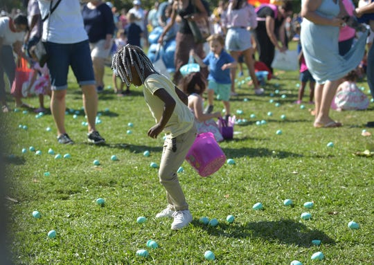 The 3rd annual Vero Beach Easter Parade, Easter Egg Hunt, Bonnet & Ball Cap Competition, and Easter Golf Cart Parade hosted by Dale Sorensen Real Estate on Thursday, April 18, 2019, at Humiston Park in Vero Beach.