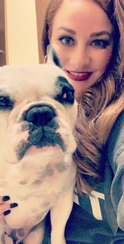 El Pasoan Amber Martin with her famous dog, Walter Geoffrey, the French Bulldog.