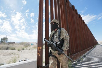 United Constitutional Patriots have been camping out and patrolling an area of the border in Anapra, New Mexico for a few months.