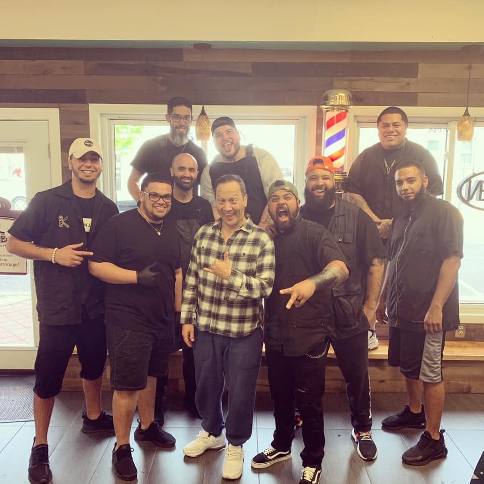 Comedian Rob Schneider pays visit to Millville barber, cigar shops