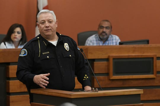 Police Chief Wes Hensley talks about how Tulare Police Department is responding to the homeless crisis on April 18, 2019.