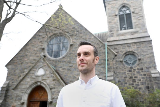 Rev. Drew Paton, rector of South Presbyterian Church in Dobbs Ferry, April 19, 2019. The church raising money to build an apartment within the church to serve as a sanctuary for immigrant families fighting imminent deportation.