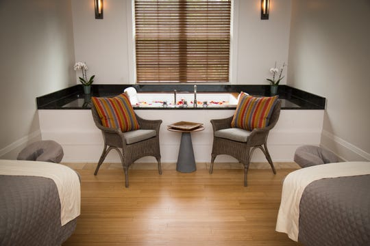 A treatment room at the Emerson Resort & Spa.