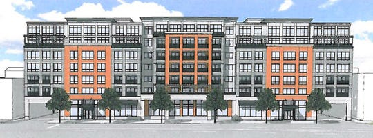 Rendering of apartment building proposed for YMCA property in White Plains.