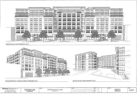 Rendering of proposed apartment building to replace YMCA in White Plains.