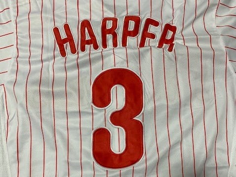 More than 300 fake Bryce Harper Phillies jerseys seized at Port of Philadelphia