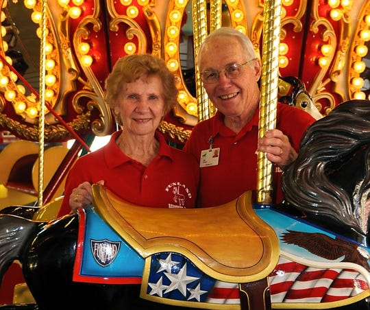 Jean and Al Fasnacht, co-founders of Funland.At 90, Al still works at Funland, taking out the trash and running the kiddie rides. Jean passed away in 2011 at the age of 84.