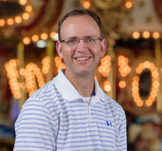 """Chris Lindsley, author of """"Land of Fun,"""" a new book detailing the history of Rehoboth Beach's Funland, the state's lone amusement park."""