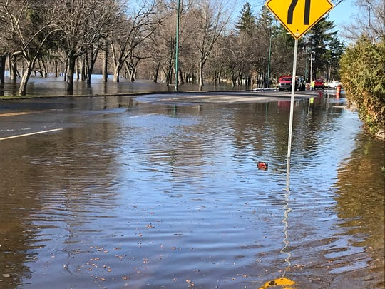 Wisconsin Rapids officials have closed part of State 54, from the roundabout to the Riverview Expressway as water floods the road.