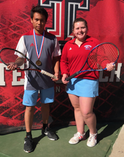 Hirschi's Zach Leon (left) finished third in boys singles and Savana Mayfield was fourth in girls singles at the Region I-4A Tournament.