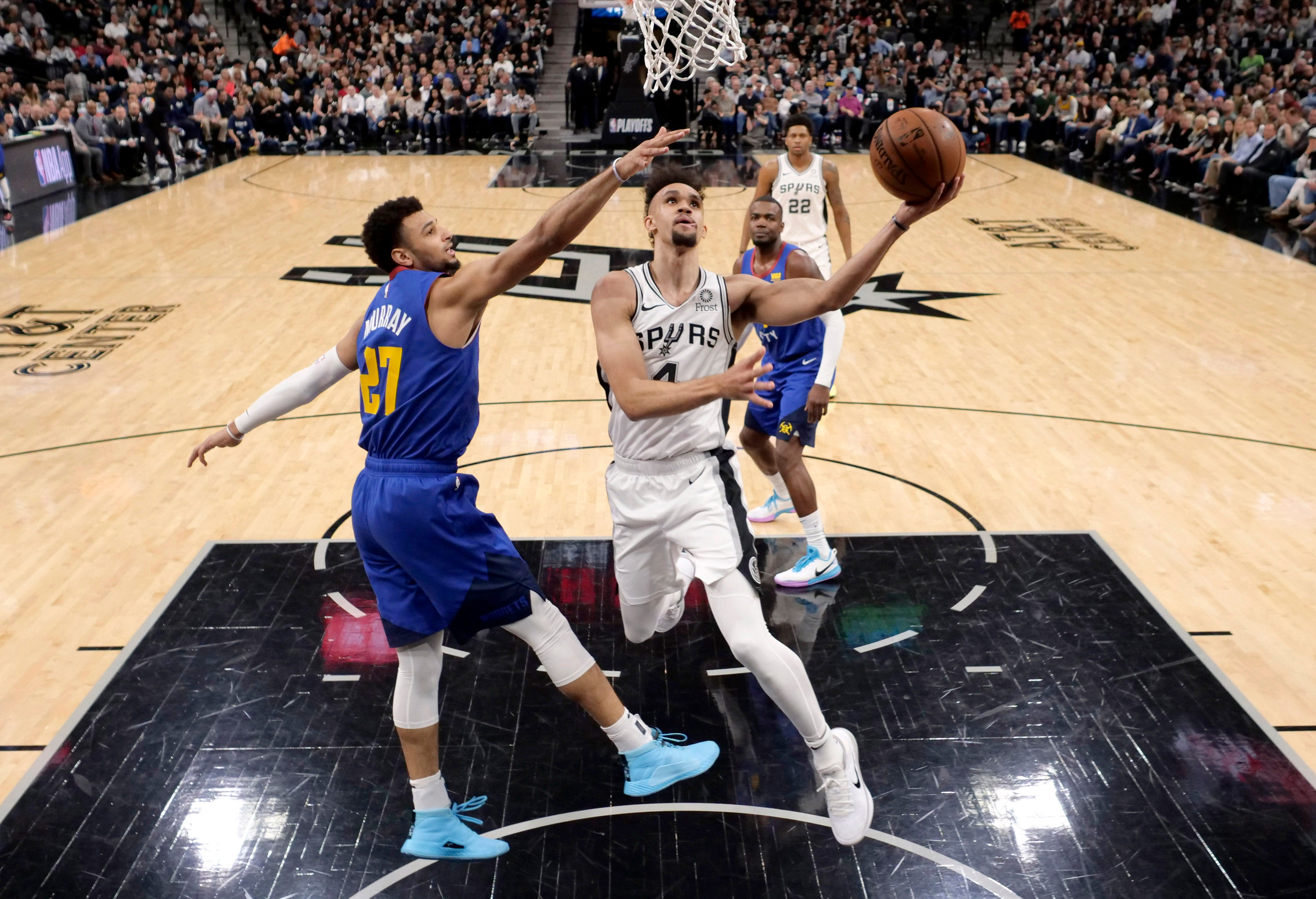 Derrick White's career night leads Spurs past Nuggets for 2-1 series lead