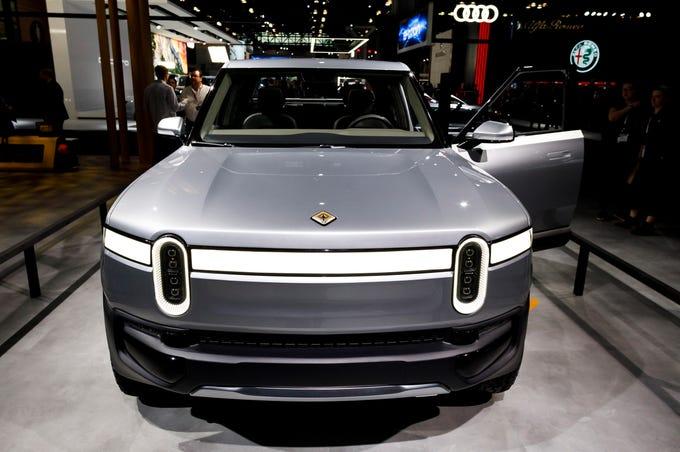 Javits Center Car Show >> Electric car frunks: See photos of Tesla, Rivian, Jaguar ...