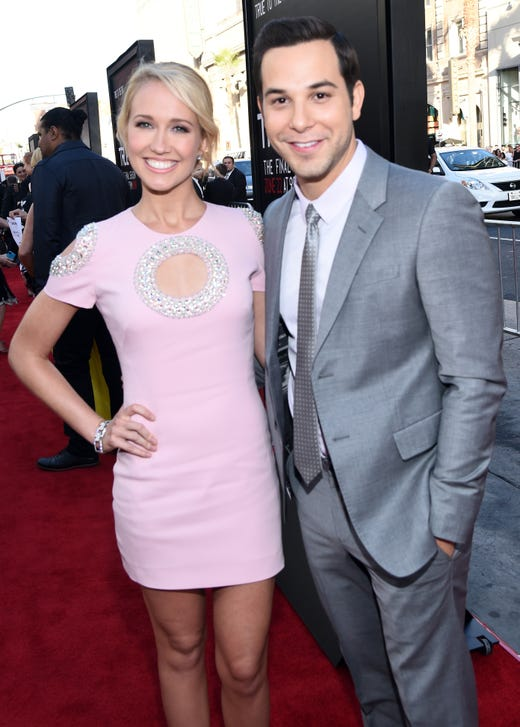 "Not every celebrity coupling gets their ""happily ever after."" Anna Camp and Skylar Astin met on the set of the 2012 film ""Pitch Perfect"" and wed in 2016."