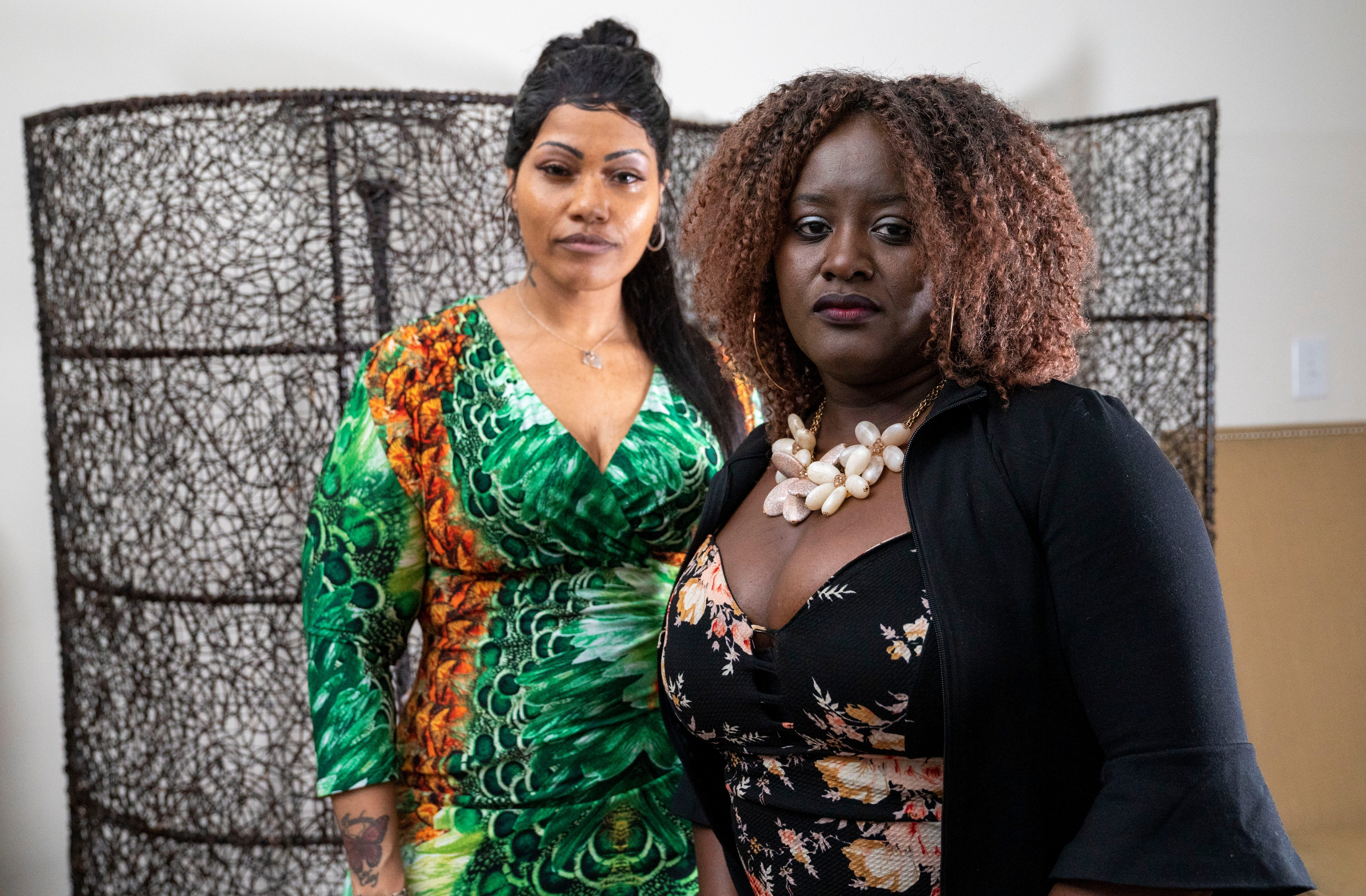 Porche Campbell, left, and Nicola Mason both were left badly scarred after surgeries at Spectrum Aesthetics.