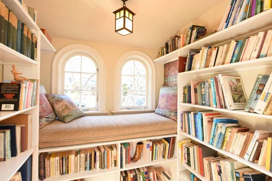 Quiet and Private Retreat, Palo Alto, California Almost everywhere you look, guests spot books in this charming California home. Grab a blanket and a seat in the reading nook or by the fireplace where you can take refuge with your book of choice.
