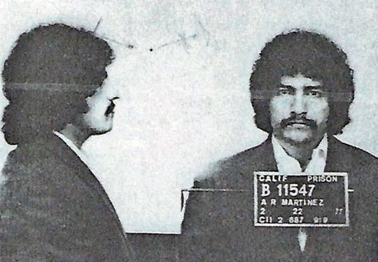 This 1977 photo provided by the San Luis Obispo County Sheriff's Office shows Arthur Rudy Martinez. Authorities say DNA evidence has linked the cold-case rape and murder of two women in California's Central Coast to a man who died in a prison in Washington state. The San Luis Obispo County Sheriff's Office said Wednesday, April 17, 2019 that DNA obtained from items owned by Martinez recently matched DNA left by the suspect in two killings in Atascadero in the late 1970s.