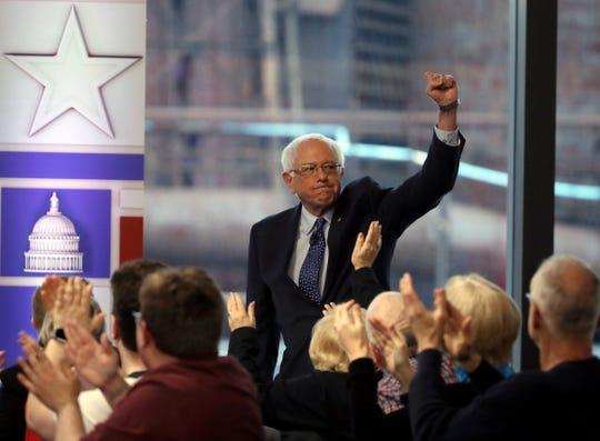 Sen. Bernie Sanders, I-Vt., in Bethlehem, Pa., on April 15, 2019.