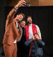 "Chris Hemsworth (left)  takes a selfie with Mark Ruffalo, Chris Evans and Robert Downey Jr. The four co-star in ""Avengers: Endgame."""