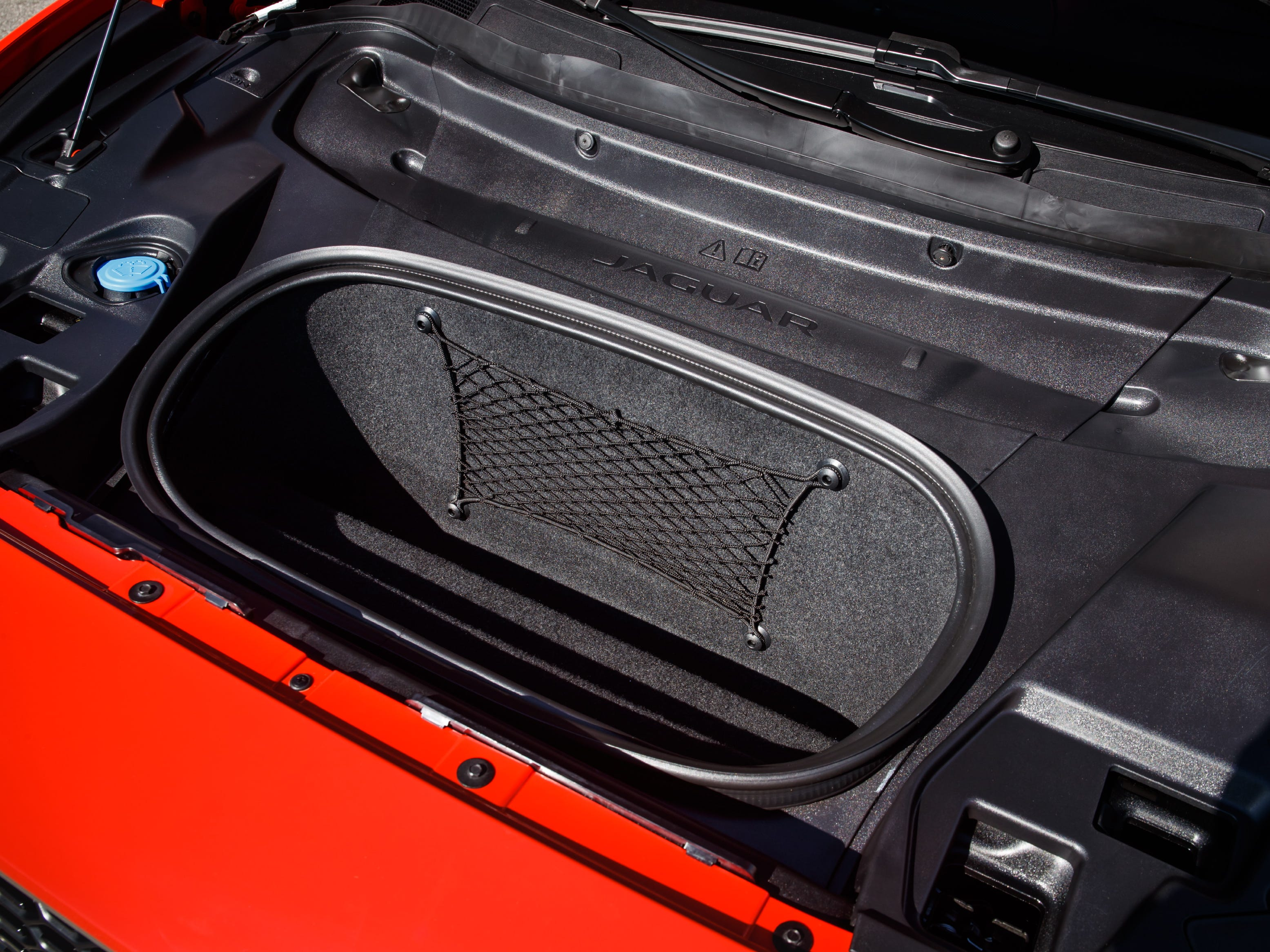 """The Jaguar I-PACE electric crossover has a space under the hood for storage, otherwise known as a """"frunk."""""""