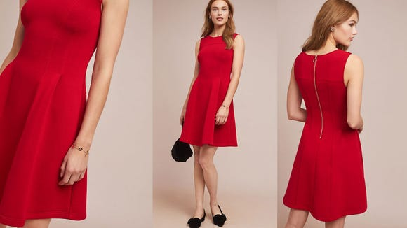 Upgrade that LBD with a pop of red.