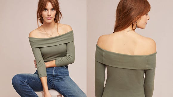 There's something sexy about off-the-shoulder.